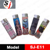 Electronic plastic lighter with PVC wrap