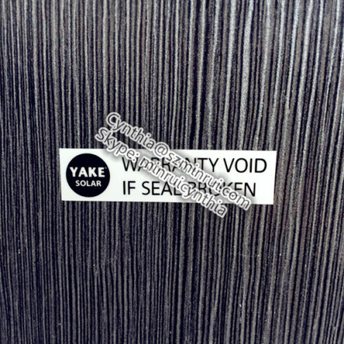 Custom Waterproof PET Adhesive Warranty Void Sticker Label
