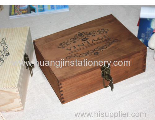 wood box with customize for storage