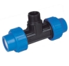 pp male threaded tee compression fittings