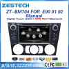 ZESTECH Car autoradio gps For BMW E90 DVD 3 Series year for 2005-2012 With Manual Air-Condition