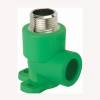 ppr male threaded elbow with disk