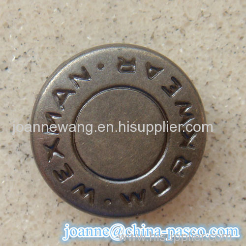 metal snap button for garment accessory and hand bag