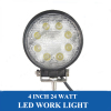 24W LED Work Light 8PCSx3W LED Driving Light Spot Flood LED Work Lamp for Offroad Truck