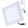LED square Panel Light Fixture with Natural White 24 Watt