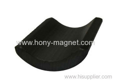 Black epoxy bonded neodymium motor segment magnets