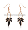Swan Dance Shape Fashion Zinc Alloy Oil Drop Ladies Earrings
