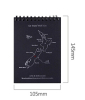 Map covered top open spiral notebook black