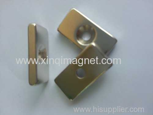 Sintered NdFeB Magnet with a countersink