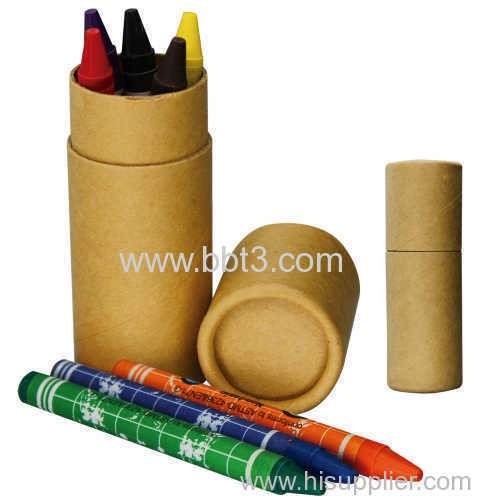 Eco paper tube with 8pc crayon for promotion