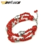 Handmade Chinese jewelry Sliver Fish Red Crystal Bracelet