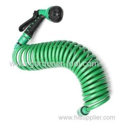 50FT Water Spring Hose With Plastic Spray Gun