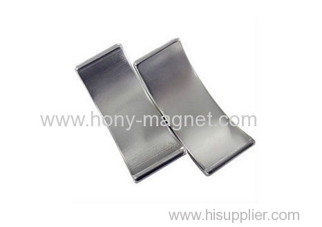 Arc shape permanent ndfeb rectangle magnet