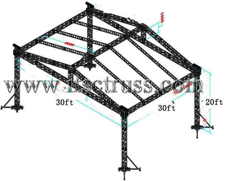 Price list  for 30x30x20ft standard truss roof