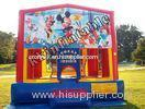 Small Size Theme Inflatable Bouncer , Kids Inflatable Bouncer Jumping Bed