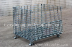 Standard wire mesh folding storage container