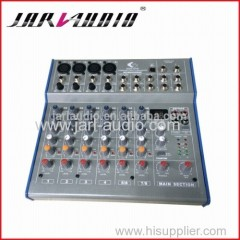 Pro audio mixer with DSP