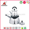 double stainless steel whistling kettle with moving handle