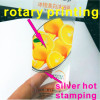 silver hot stamping transparent vinyl adhesive sticker printing cosmetic jar labels