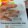 water proof anti-peel strong transparent UDV destructible material