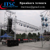 Speaker towers layer truss system