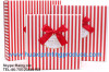red stripe gift boxes
