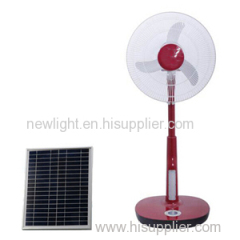 Solar Stand Fan with Beautiful LCD