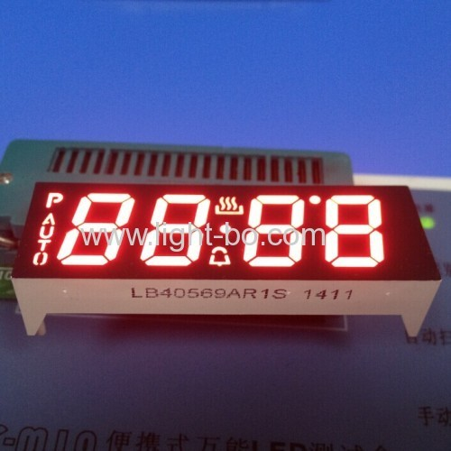 Custom Ultra Red 7 Segmetn LED Display for Oven Timer Control