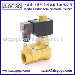 2 way pilot diaphragm type water solenoid valve nomally open 16bar VITON NPT BSP IP65