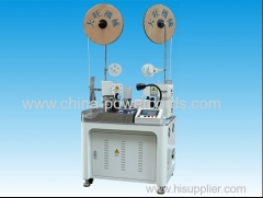 Full automatic double terminal crimping machine