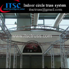 Indoor decorative aluminum circle truss system