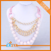 Wholesale Gold Chain Pink Beads Necklace For Women