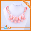 Cute Teenager Necklace Bead Pendant Necklace Pink Necklace