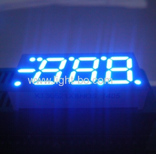 Ultra Blue 0.52  common anode 3 digit 7 segment led display for digital temperature indicator