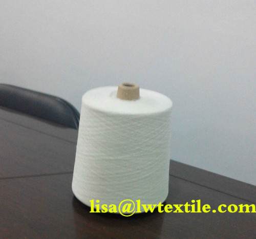 Close virgin polyester single spun yarn
