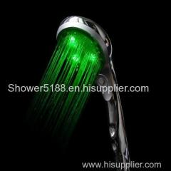 head shower with led color light