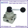"HV series Pneumatic hand switching valve 4 way manual valve BSP thread 1/4"" 3/8"" 1/2"""