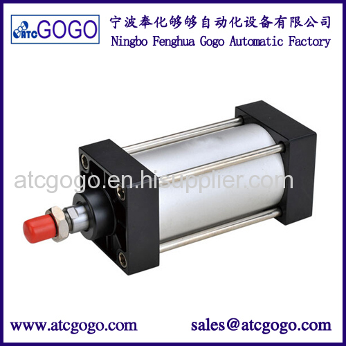 Pneumatic air cylinders double acting cylinder Aluminum Steel adjustable stroke