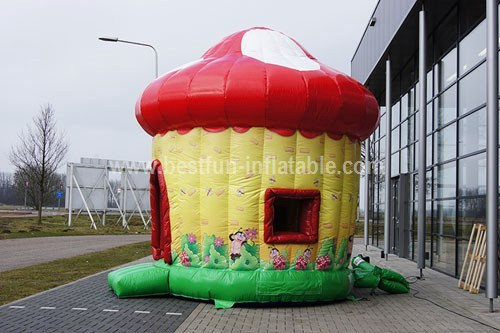 Mushroom bouncer with slide