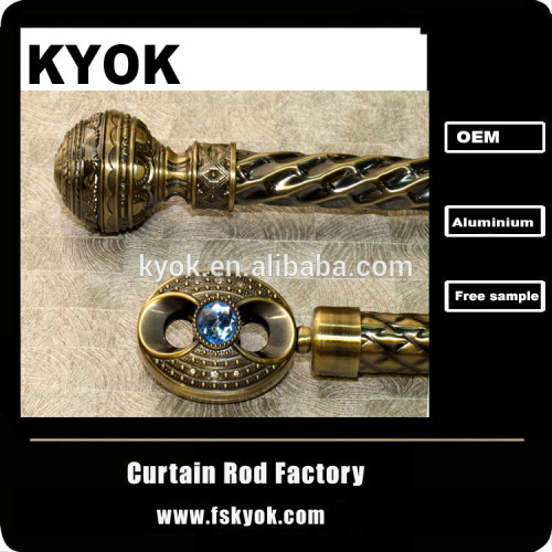 2014 High quality fashionable cheap curtain finials for curtain rod cornice for curtains to home decorations