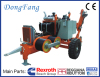 66KV Transmission Line Stringing Equipment 4 ton hydraulic puller with 3 Ton tensioner