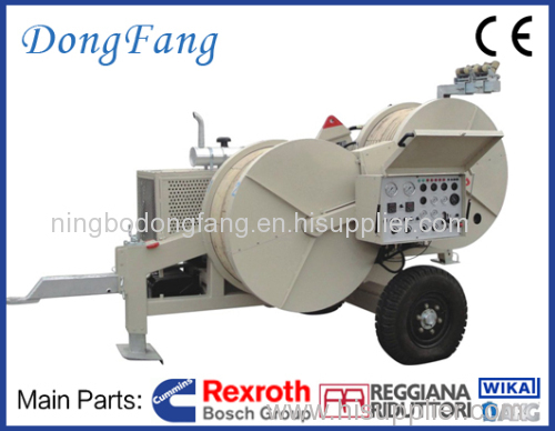 150KV Overhead Transmission Line Stringing Equipment 6 ton puller with 2 of 3 ton tensioner