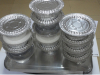 aluminum foil dairy Airline foil containers and lid