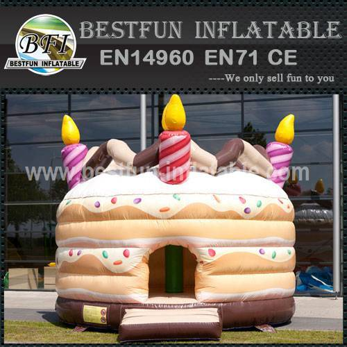 Bouncy castle birthday cake
