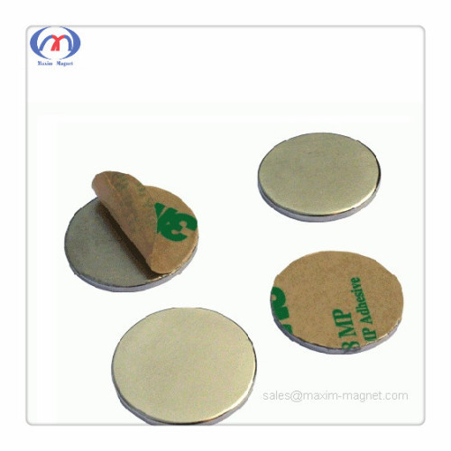 Neodymium disc magnets with self-adhesive