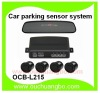 Ouchaungbo Car parking sensor system mirror LED display 4 Parking sensors