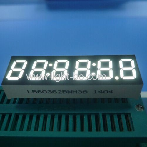 Pure Green 0.36inch 6 digit 7 segment led clock display common anode for digital instrument panel indicator