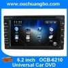 Ouchuangbo New GPS Navigation Bluetooth TV Audio Stereo Media System for Universal Car DVD