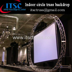 Indoor circular truss backdrop for Projector screen