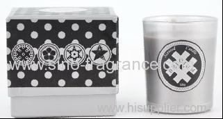 590g home scented soy wax candle in glass jar with Hard paper box